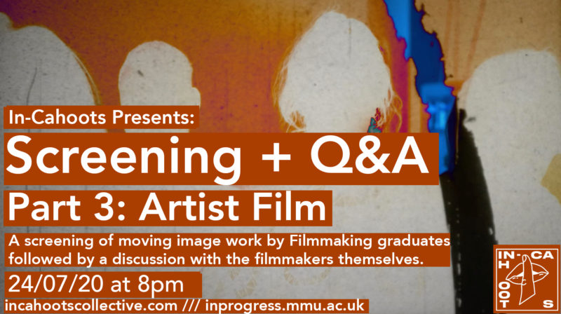 In-Cahoots Q&A and Mini-Screening (Part 3 – Artist Film)